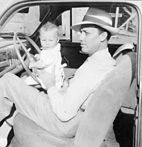 Daddy and me. He did love his cars.