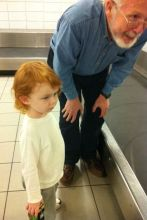 Grandson and Granddad at the carousel
