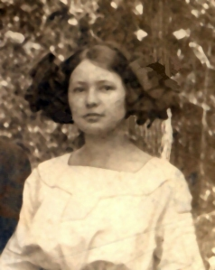My grandmother, about seventeen