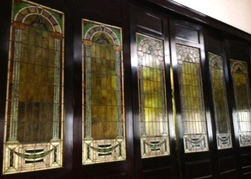 Doors at the back of the sanctuary